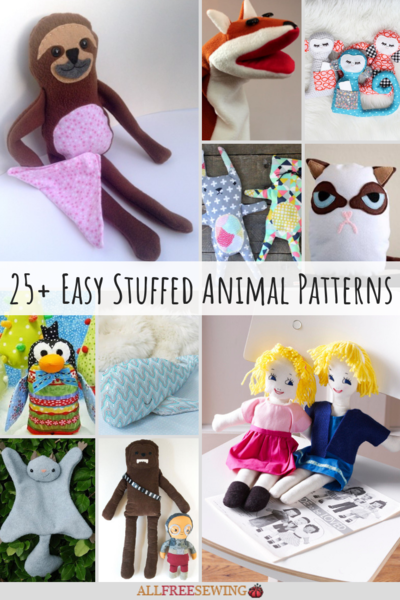 60 Easy Stuffed Animal Patterns AllFreeSewing Amazing Stuffed Animal Patterns