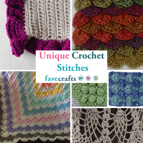 15 Unique Crochet Stitches