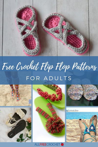 33 Free Crochet Flip Flop Patterns For Adults Allfreecrochet