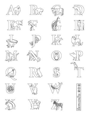alphabet coloring pages pdf Alphabet Coloring Page PDF | FaveCrafts.com alphabet coloring pages pdf