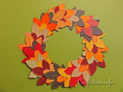 Paper Autumn Leaves Wreath