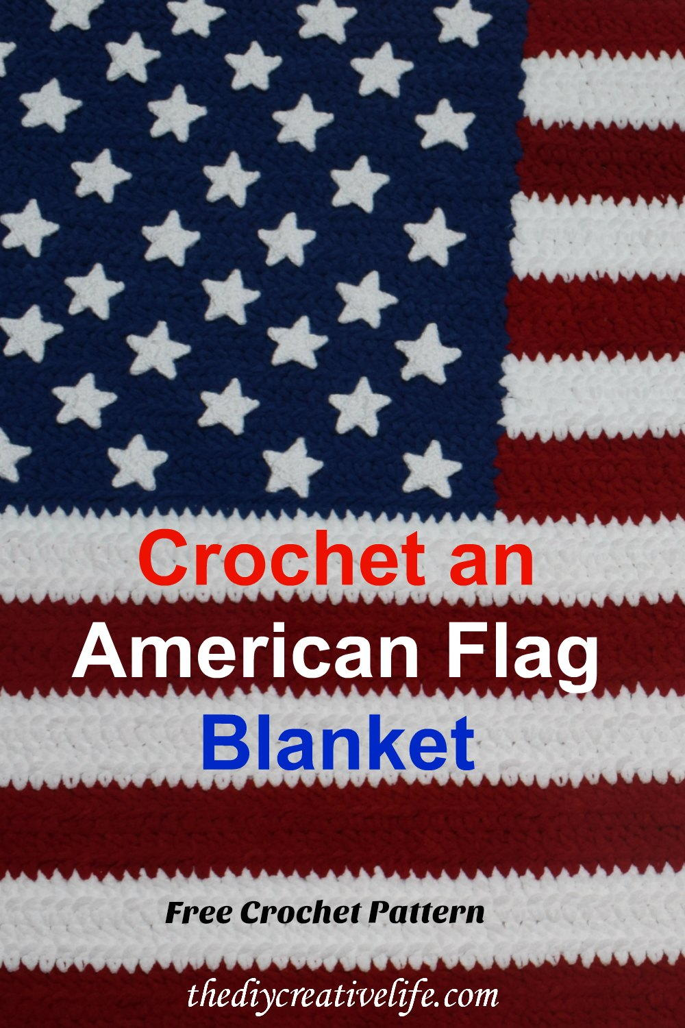 How To Crochet An American Flag Blanket Favecrafts