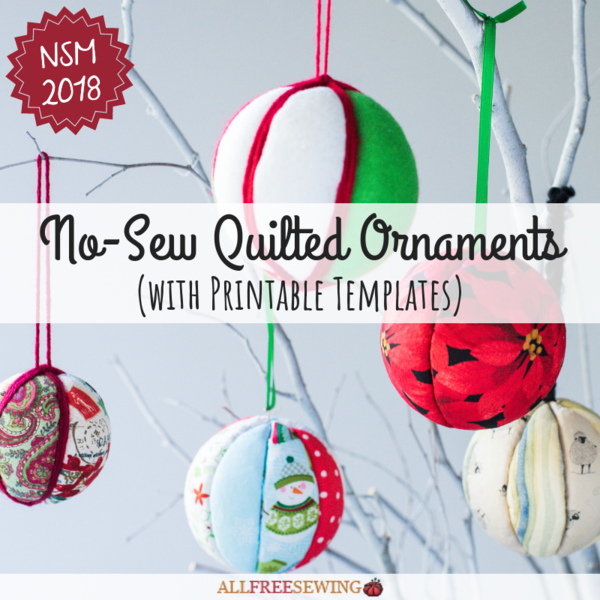 Simple No-Sew Quilted Ornaments (with Printable Templates)