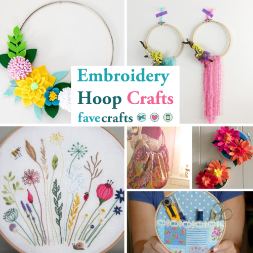 16 Embroidery Hoop Crafts | FaveCrafts.com