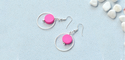 Pink Loop Earrings