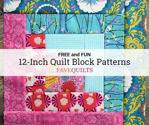 60 Free 60Inch Quilt Block Patterns FaveQuilts Beauteous 12 Inch Quilt Block Patterns