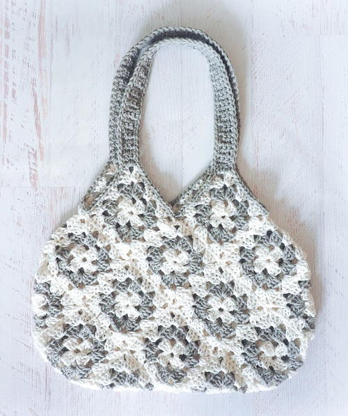 Granny Square Knitting Bag Crochet Pattern Allfreecrochet