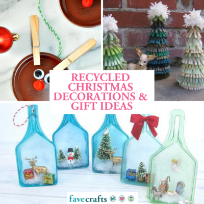 recycled christmas decorations and gift ideas - Recycled Christmas Decor