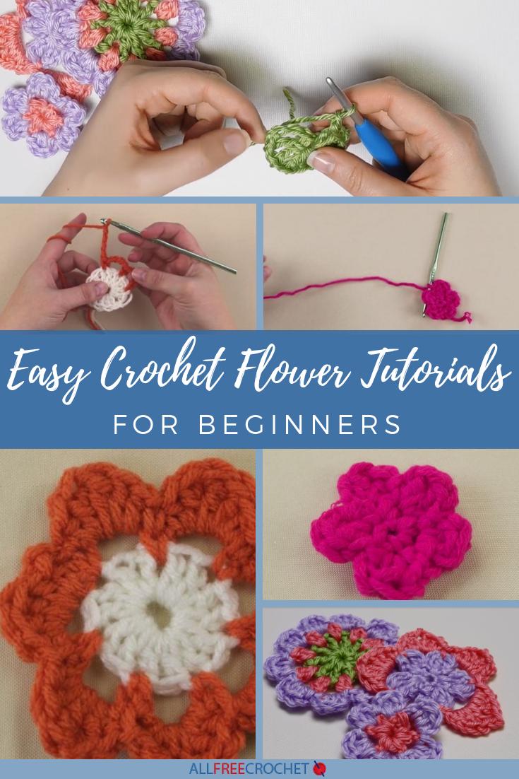 3 Easy Crochet Flower Tutorials For Beginners Allfreecrochet