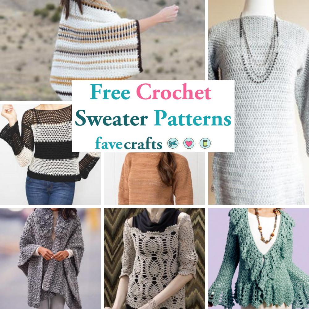 34 Free Crochet Sweater Patterns Favecrafts