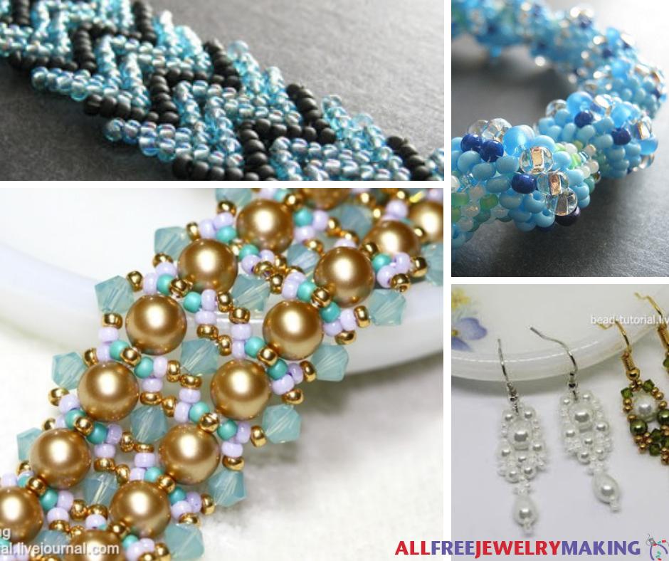 40 Best Free Bead Weaving Patterns AllFreeJewelryMaking New Beaded Necklace Patterns