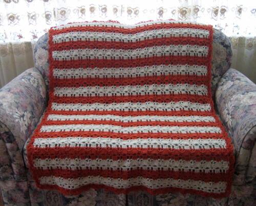 Coral Reef Shell Stitch Crochet Afghan Pattern Allfreecrochet