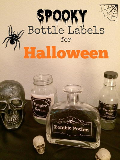 Spooky Potion Bottles for Halloween