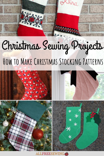 40 Christmas Sewing Projects How To Make Christmas Stocking Beauteous Christmas Stocking Sewing Pattern