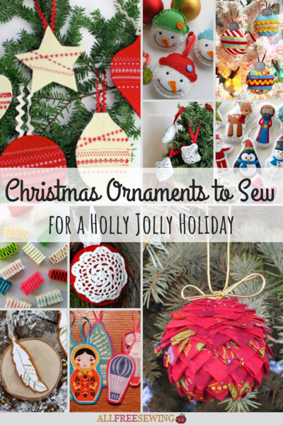 20 Christmas Ornaments To Sew For A Holly Jolly Holiday
