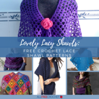 Lovely Lacy Shawls: 30+ Free Crochet Lace Shawl Patterns