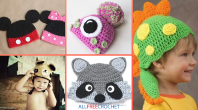Crochet Animal Hats: 55 Free Crochet Hat Patterns for Kids