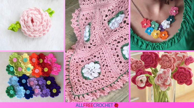 38 Free Crochet Flower Patterns Allfreecrochet