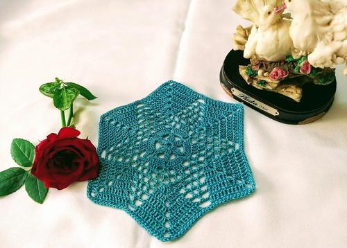 Floral Granny Hexagon Motif Allfreecrochet