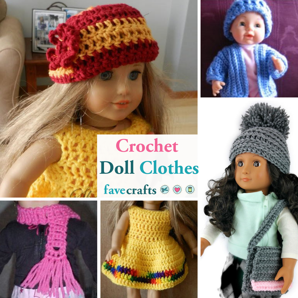 12 Free Crochet Doll Clothes Patterns Favecrafts