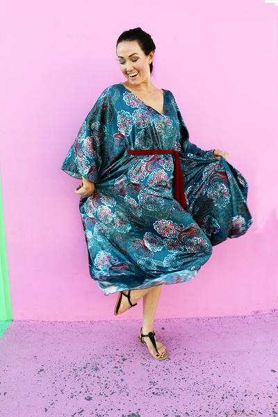 Easy DIY Caftan Dress Tutorial