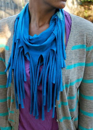 How to Make a Tee Shirt Fringe Scarf