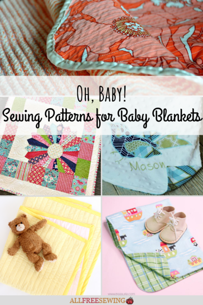 Oh Baby 40 Sewing Patterns for Baby Blankets AllFreeSewing Delectable Blanket Patterns Sewing