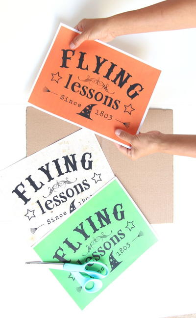 Flying Lessons Printable Halloween Sign
