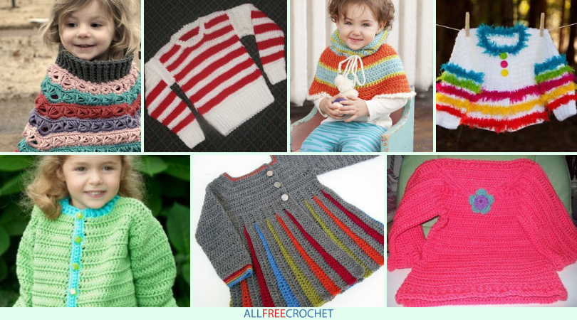 15 Free Crochet Sweater Patterns For Children Allfreecrochet