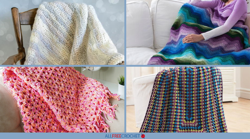 60 Quick And Easy Crochet Afghans AllFreeCrochet Enchanting Easy Afghan Patterns