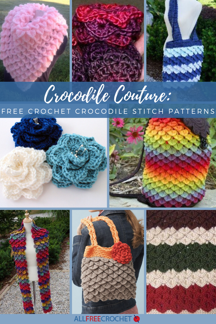 Crocodile Couture 24 Free Crochet Crocodile Stitch Patterns