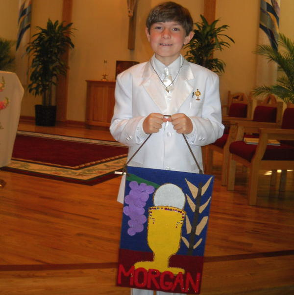 Appliqued First Communion Banner