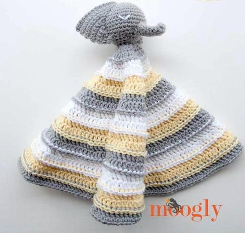 Ella The Elephant Lovey AllFreeCrochet New Crochet Elephant Lovey Pattern