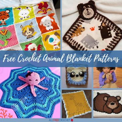 27+ Free Crochet Animal Blanket Patterns   AllFreeCrochet.com