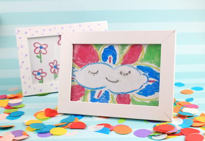 DIY Kids Crafts painting on Glass