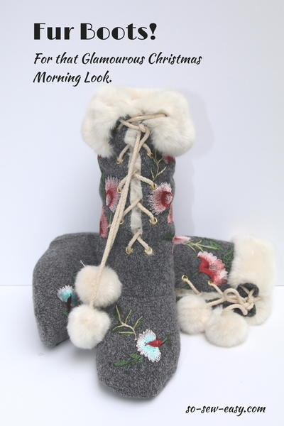 Fur Boots FREE Sewing Tutorial