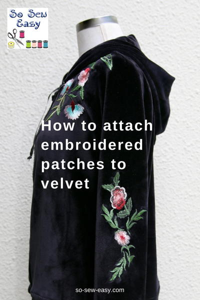 How To Make and Attach Embroidered Patches to Velvet