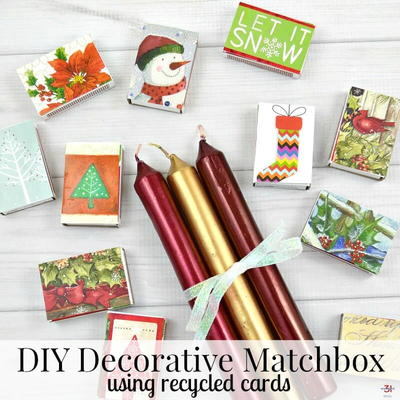 DIY Decorative Christmas Matchboxes