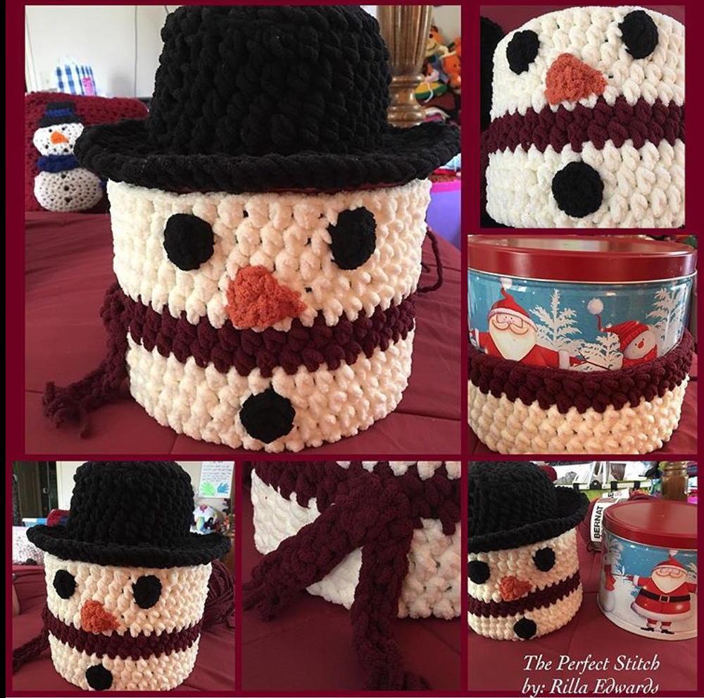 Snowman Cover Allfreecrochet