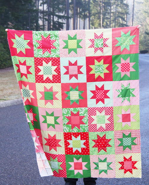 No Point Christmas Stars Quilt Pattern