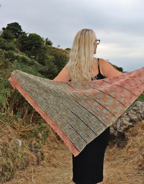 Space Fade Crochet Shawl