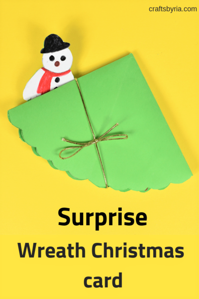 Surprise Wreath Christmas Card Idea