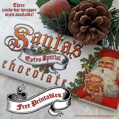 Printable Santa Christmas Candy Bar Wrapper