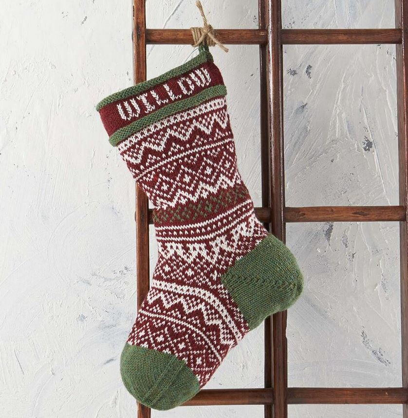 Vintage Christmas Stocking Knitting Pattern | AllFreeKnitting.com