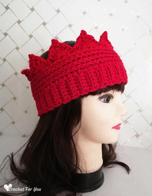 Crochet Crown Ear Warmer Pattern Favecrafts