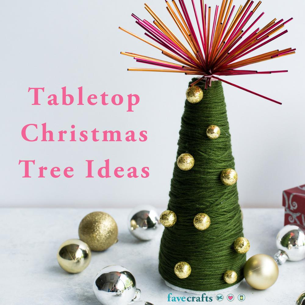 48 Tabletop Christmas Tree Ideas | FaveCrafts.com