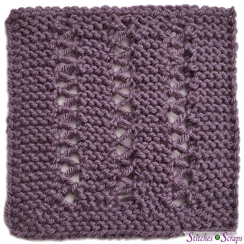 Rows of Ease Blanket Square