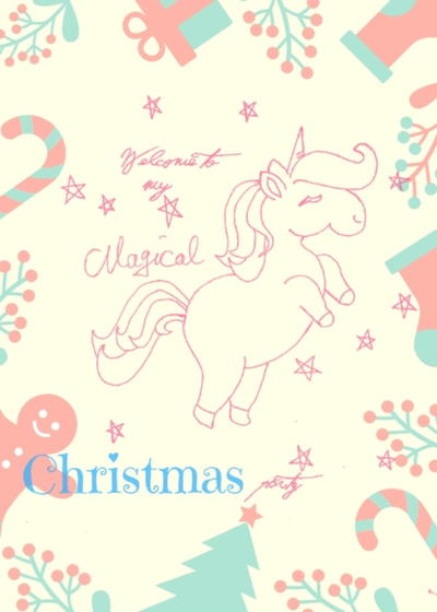 Unicorn Party Printables for Christmas