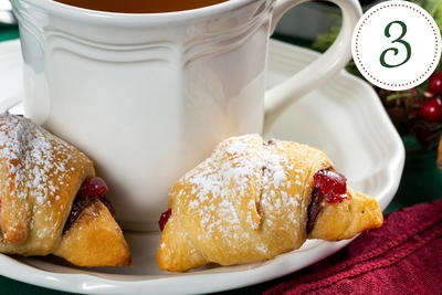 Snow Topped Cherry Chocolate Crescents
