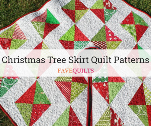 Quilted Christmas Tree Skirt Patterns: Christmas Tree Skirt Quilt Patterns